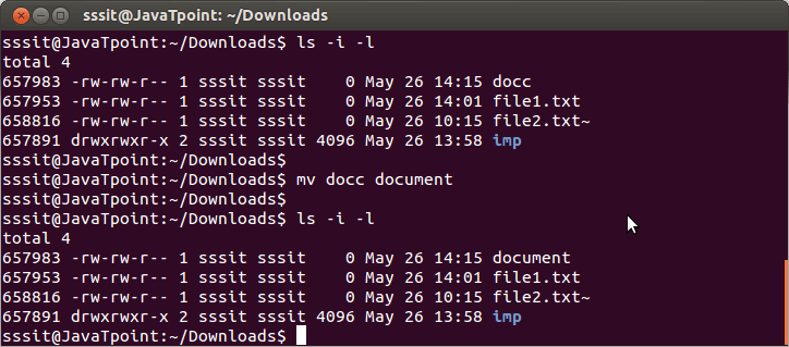 Linux File mv command 1