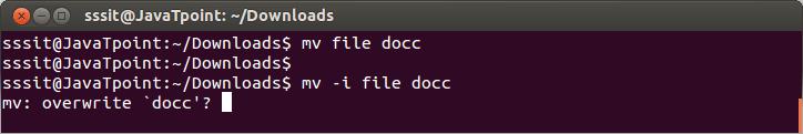 Linux File mv-i