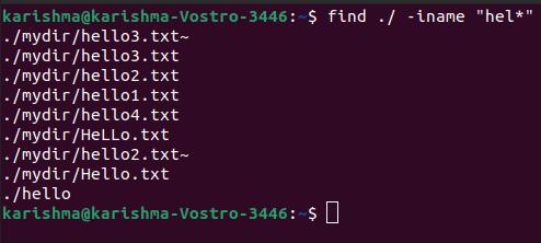 Linux Find File