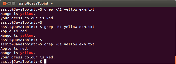 Linux Grep Filters5