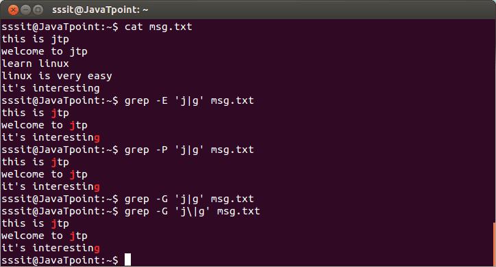 Linux Grep Regular Expression3