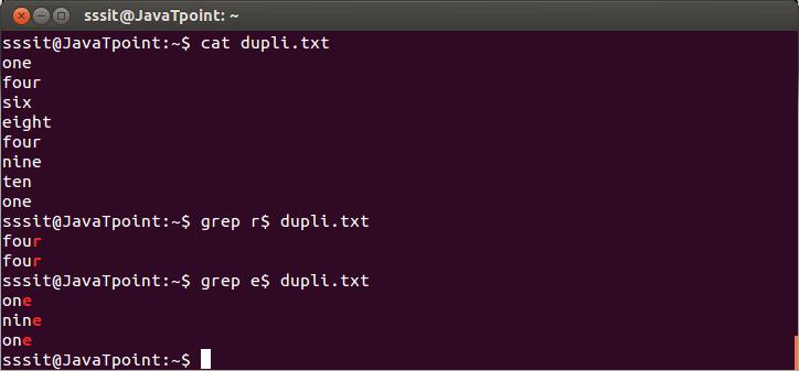 Linux Grep Regular Expression5