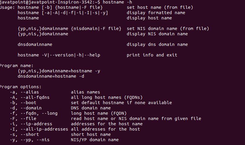 Linux hostname Command