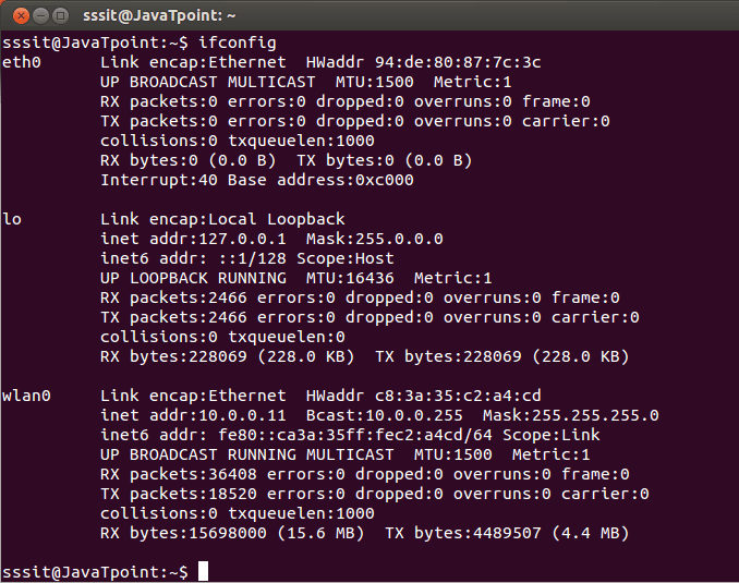 Linux Networking ifconfig1