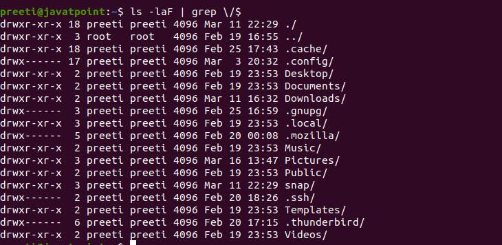 Linux List Directories