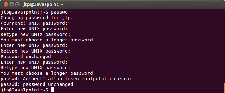 Linux User Password1