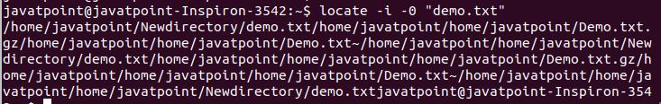 Linux Locate