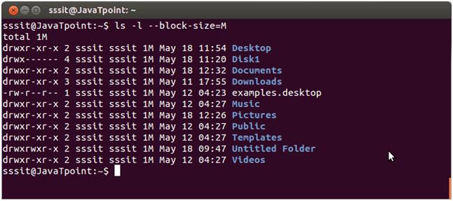 Linux ls -l --block-size=[SIZE]