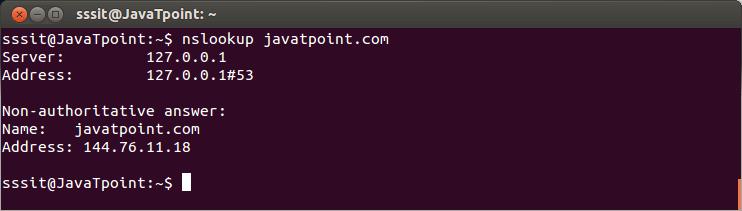 Linux nslookup