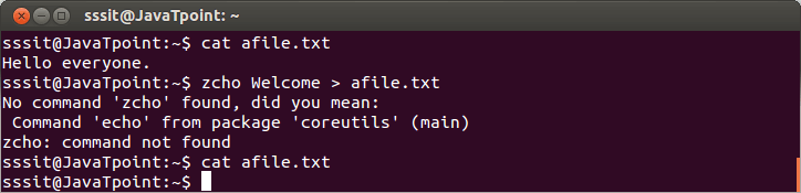 Linux Output Redirection2