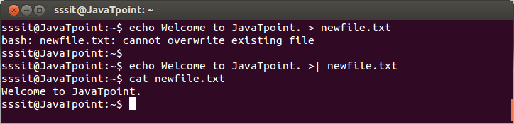 Linux Output Redirection4