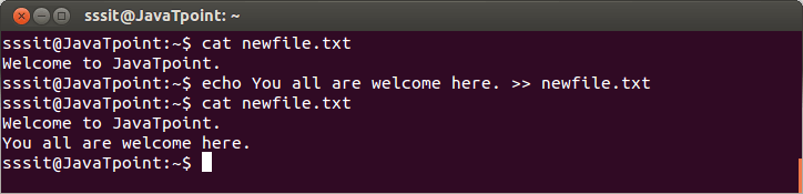 Linux Output Redirection5
