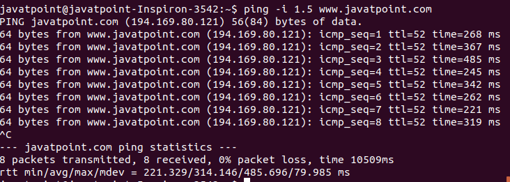 Linux ping