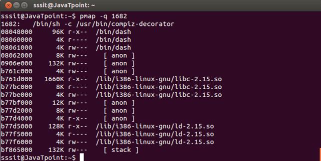 Linux pmap q1