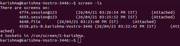 Linux Screen Command