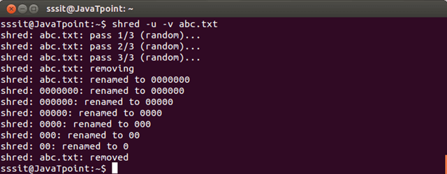 Linux Shred4