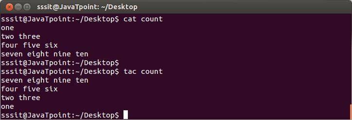 Linux tac command