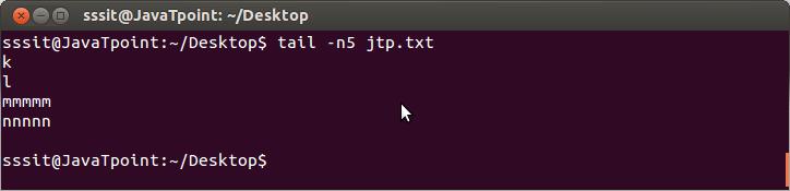 Linux File tail n
