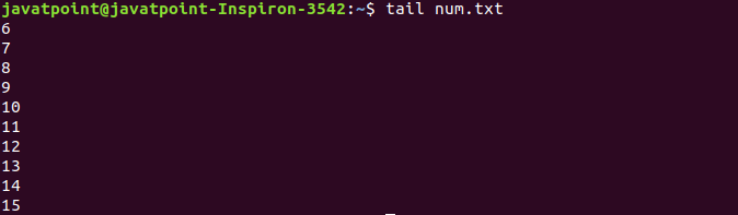 Linux File tail