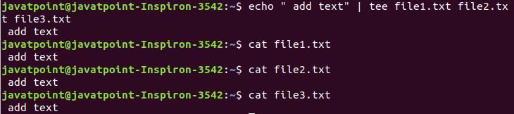 Linux tee Filters