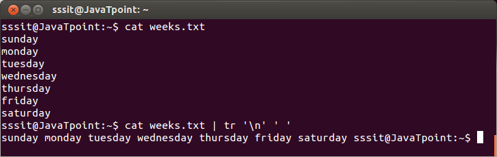 Linux tr Filters3