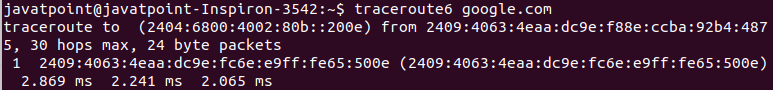 Linux traceroute