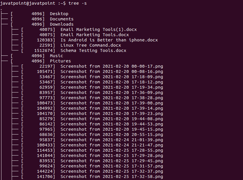 Linux Tree Command