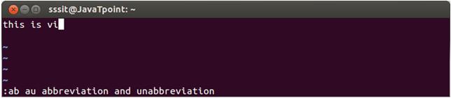Linux vi Abbrevitions1