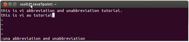 Linux vi Abbrevitions3