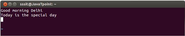 Linux Vi Delete10