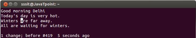 Linux Vi Delete11