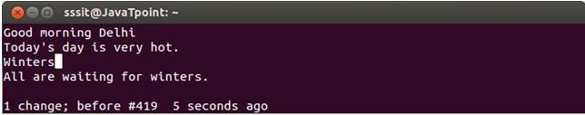 Linux Vi Delete12