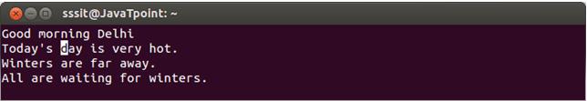 Linux Vi Delete13