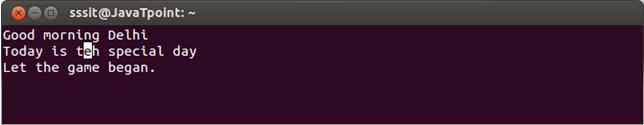 Linux Vi Delete7