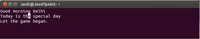 Linux Vi Delete8