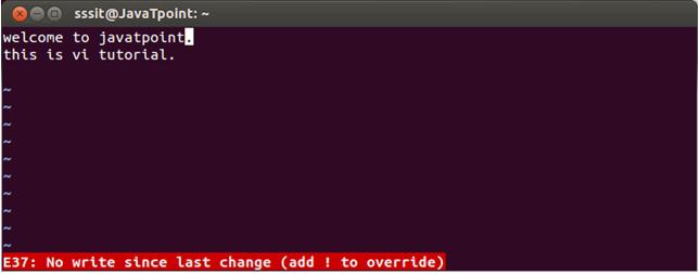 Linux Vi Editor5