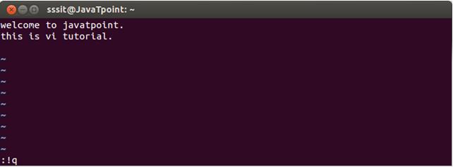 Linux Vi Editor6