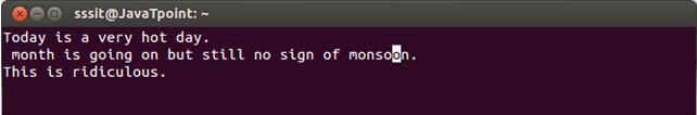 Linux Vi Move5