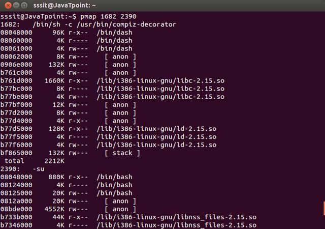 Linux pmap2