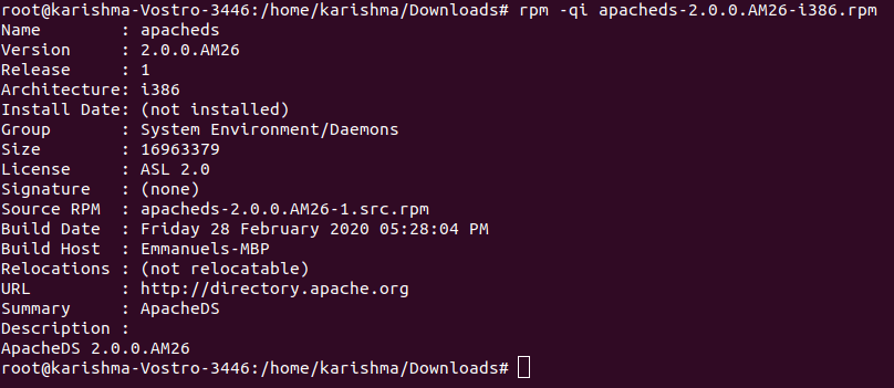 RPM Command in Linux