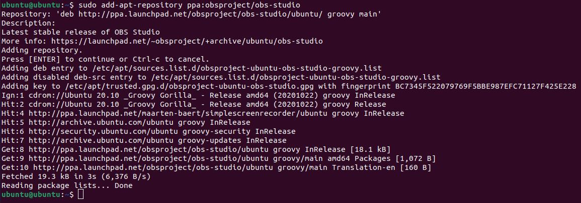 Ubuntu Screen Recorder