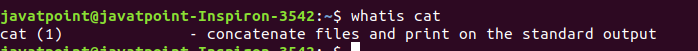 Whatis command in Linux