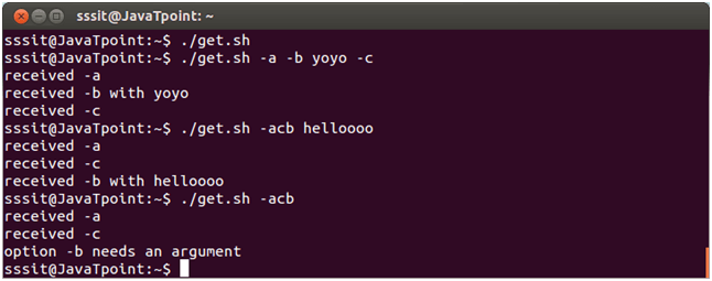 Linux Shell Scripting Get script options with getopts 4