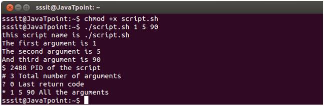 Linux  Script parameters 2