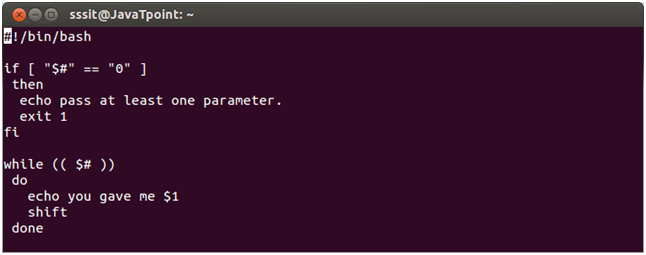 Shell Scripting Shift through parameters 1