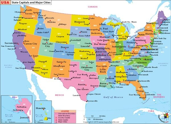 List Of Cities In USA