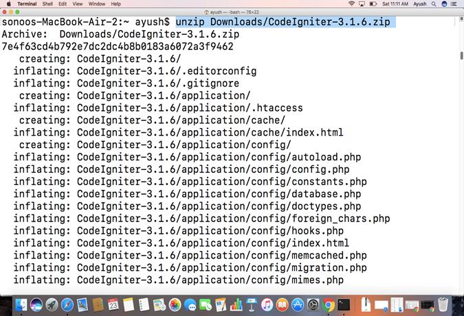 Macos CodeIgniter 1
