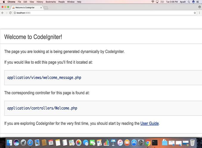 Macos CodeIgniter 3