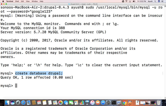 How to Install Drupal on Mac - javatpoint