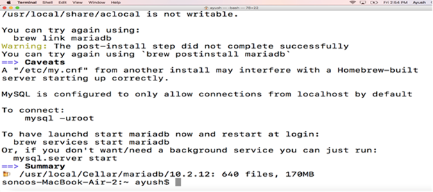 How to Install MariaDB on Mac - javatpoint